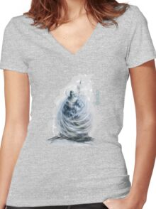 The Game of Kings, Wave Six: The White King-Rook's Pawn Women's Fitted V-Neck T-Shirt