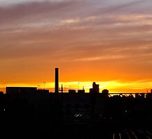 Sunset over South Yarra Station by Kamalpreet S. Sawhney