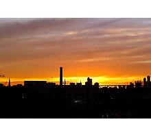 Sunset over South Yarra Station Photographic Print
