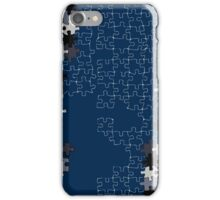 Jigsaw puzzle pieces BLUE iPhone Case/Skin