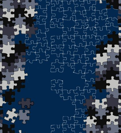 Jigsaw puzzle pieces BLUE Sticker