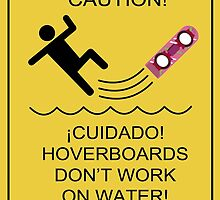 Caution! Hoverboards don't work on Water! by larlyland
