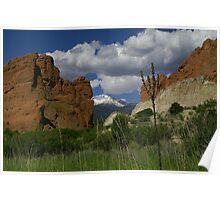 Gateway Rock framing Pikes Peak Poster