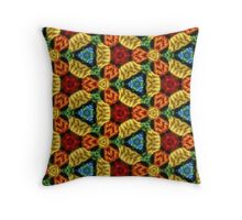 Psychedelic Crochet 2 Throw Pillow