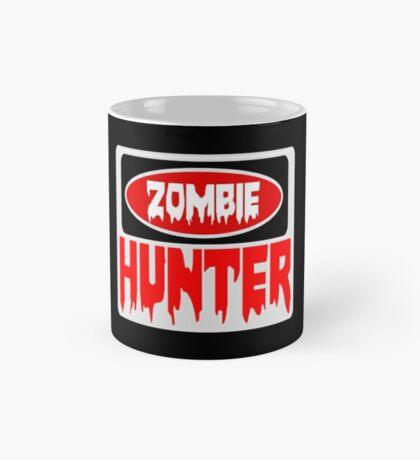 ZOMBIE HUNTER, FUNNY DANGER STYLE FAKE SAFETY SIGN Mug
