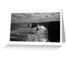 Sunset at the three apostles Greeting Card