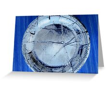 The Broken Plate Greeting Card