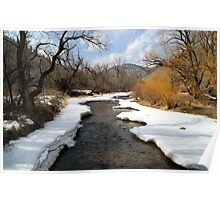 Spring Thaw on Clear Creek, near Boulder,CO Poster