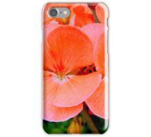 PEACH GERANIUM BLOOM - 2 iPhone Case/Skin