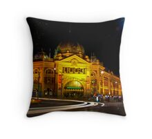 A grand old lady at night... Throw Pillow