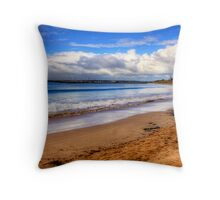 Clouds over Apollo Bay on the Great Ocean Road Throw Pillow