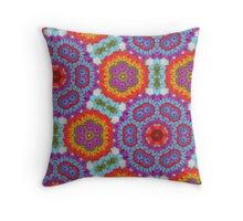 Psychedelic Crochet! Throw Pillow