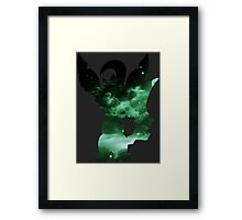 pokemon leafeon space anime shirt Framed Print