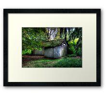 Woodsmans Hut Framed Print