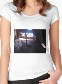 Reaching Down  Women's Fitted Scoop T-Shirt