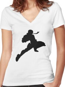 The Knee Women's Fitted V-Neck T-Shirt