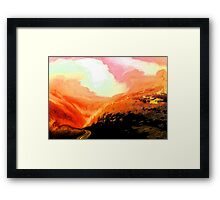 lowland road.... Framed Print