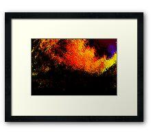 volcanic fire.... Framed Print