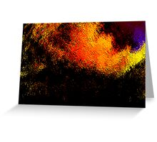 volcanic fire.... Greeting Card