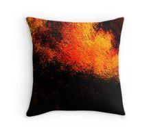 volcanic fire.... Throw Pillow