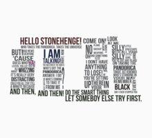 Dr Who Stonehenge Speech typography by HitmanZer0