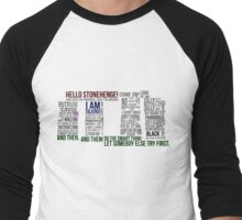 Dr Who Stonehenge Speech typography Men's Baseball ¾ T-Shirt