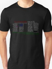 Dr Who Stonehenge Speech typography T-Shirt