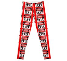 ZOMBIES WALKING IN A LINE, FUNNY DANGER STYLE FAKE SAFETY SIGN Leggings