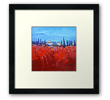 Red Tuscan Study Framed Print