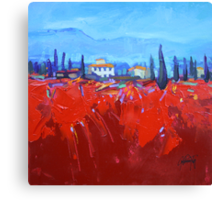 Red Tuscan Study Canvas Print