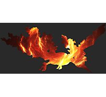 pokemon molters space fire anime shirt Photographic Print