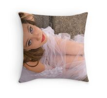 Twisted Tulle & Red Lipstick Throw Pillow
