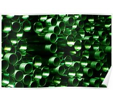 Green Pipe ~ pillow collection Poster