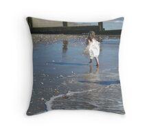 Bridesmaid on the Beach Throw Pillow