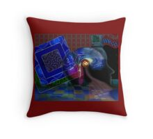 Cyberspace_2 Throw Pillow