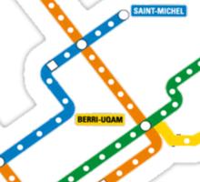 Montreal Metro Map Canada Quebec Travel Sticker