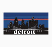 Detroit, skyline silhouette Kids Clothes