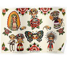 Mexican Dolls Flash Prints Poster