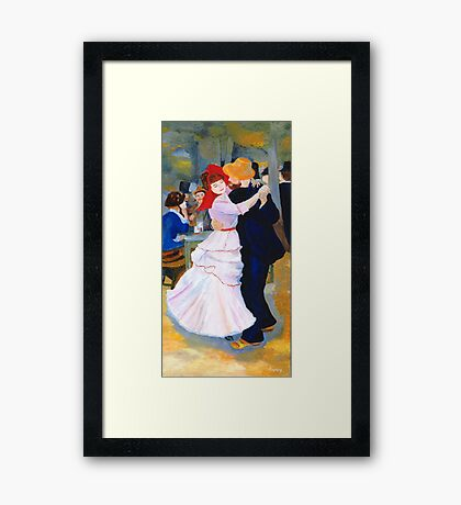 Dance at Bougival after Renoir Framed Print