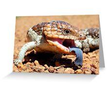 Blue Tongue Greeting Card