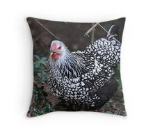 Portrait of a Visitor Throw Pillow