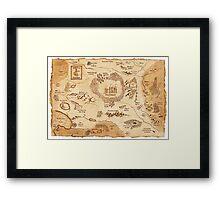 Marauder's Map Framed Print