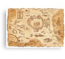 Marauder's Map Canvas Print