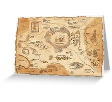 Marauder's Map Greeting Card