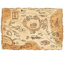 Marauder's Map Photographic Print