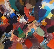 Divine Intervention Abstract Painting by Jenny Meehan by jenny meehan