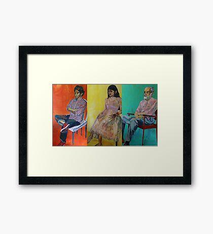 omar, ahn-thu and dr. weiss Framed Print