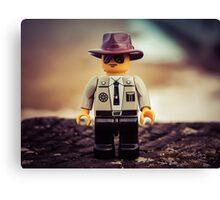 Lego officer Canvas Print