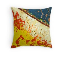 Red and yellow and xxxx and blue Throw Pillow