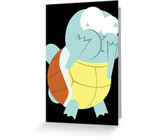 Squirtle About to Barf Greeting Card